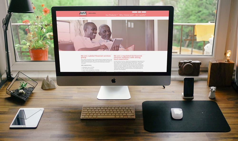 Just SA Desktop View | Thinking Creative