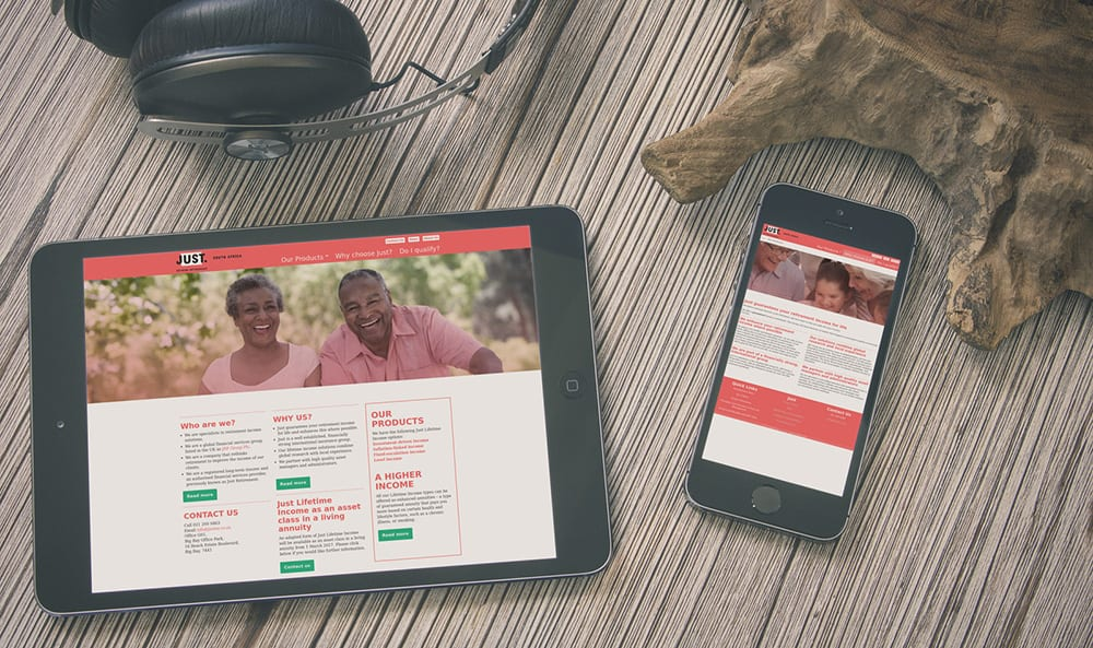 JustSA mobile and tablet views | Thinking Creative