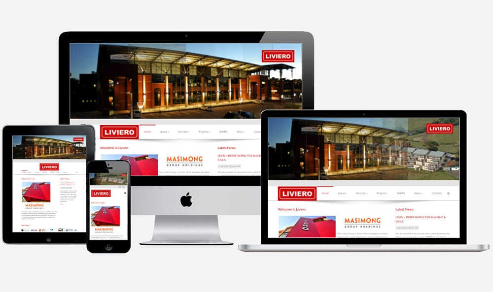 Liviero home page view | Thinking Creative