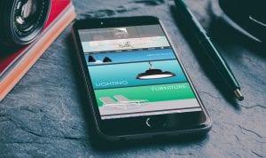 Spazio mobile home page | Thinking Creative